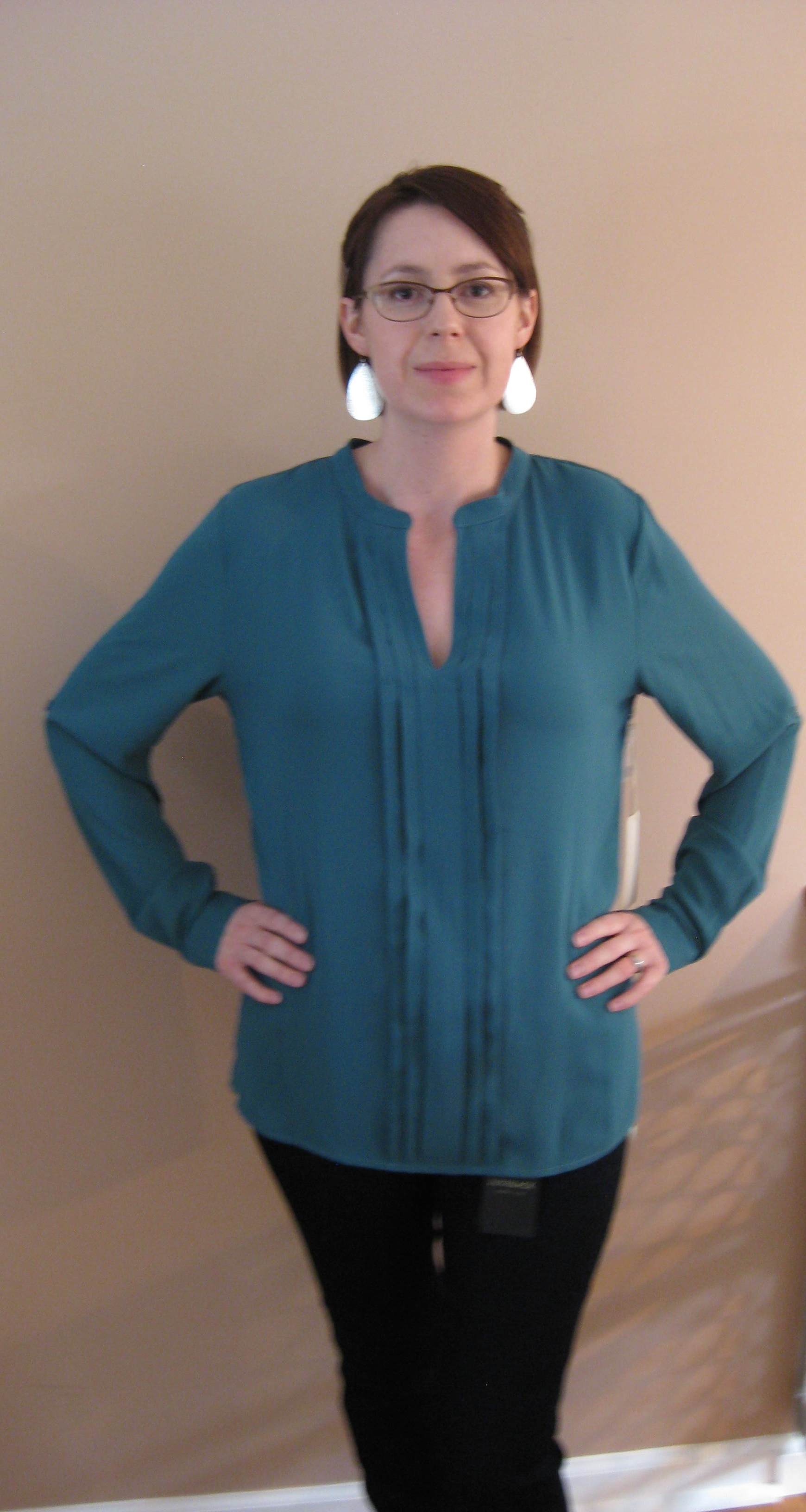 1ea73b7eae4 41Hawthorn Breyson Pleated Tab-Sleeve Blouse - Pinterest. Stitch Fix ...